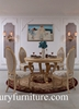 Round Dining table dining table set dining table solid finish dining table FT102