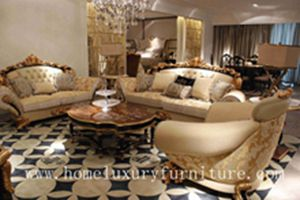 Luxury living room furniture sofa sets Italy style Antique Europe style Royal date sofa