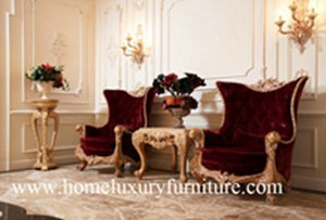 Decoration chairs wingback chairs with corner table wooden chairs entrance chairs AI-315