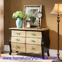 Sideboard Side Cabinets flower painted cabinets drawers chest living room table FY-HG07