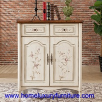 White shoes cabinets modern shoe racks with 2 doors antique painted cabinets JY-922