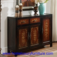America Style shoe racks shoe cabinets with 3 doors side cabinet decoration chest JY-923