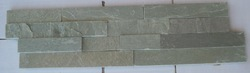 Lime Green Stacked Slate / Walling Mosaic Tiles