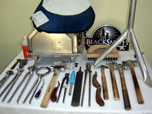 FARRIER TOOLS & BLACKSMITH TONGS