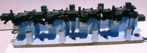 Crankshaft drilling and borning fixture with hydraulic clamping