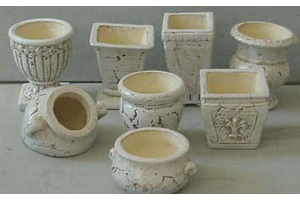 Garden Pottery Supply - Assorted Geometric Design
