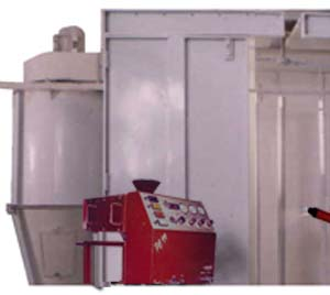 Powder coating recovery systems (HC Hyper Cyclone recovery systems with cabins)