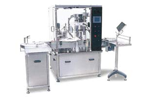 Automatic Liquid Filing, Plugging, & Capping Machine
