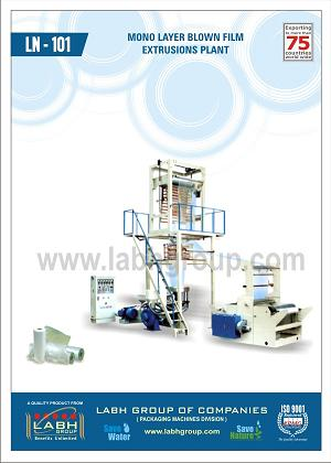LN- 101 Monolayer blown film extrusions Plant