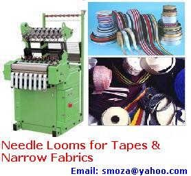 PP Tapes, HDPE Tapes, Niwar, Narrow Fabric Producing Machine, High Speed Automatic Needle Loom