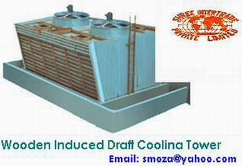 WOODEN INDUCED DRAUGHT COOLING TOWER :