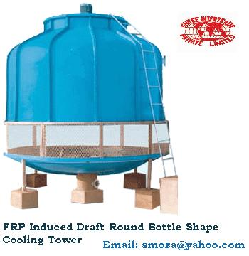 FRP Cooling Towers - Round Bottle Design