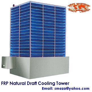 FRP NATURAL DRAFT COOLING TOWER - FOR PLASTIC, CHEMICALS, METAL PROCESSING, HEALTH CARE, ETC.,