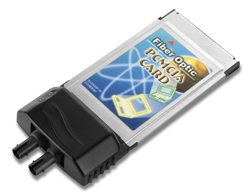 CFE-400TM 100 BASE-FX PCMCIA FAST ETHERNET FIBER OPTIC ADAPTER, ST TYPE/MULTI-MODE