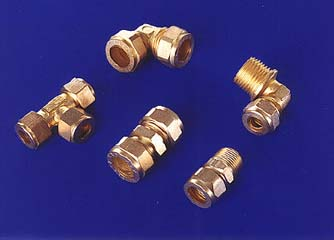 Brass Copper  Tees Elbows Connectors Compression Fitting