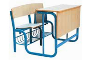 School Bench With Attached Table