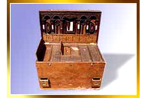Wooden Brass Inlay Dowry Chest