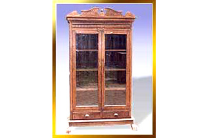 Wooden Colonial Glass Cabinet