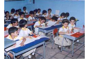 Students using the School Furniture