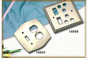 Electrical Switch Plates (Solid Forged Brass)