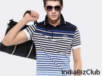 Stripped Polo T Shirts