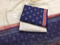 Natural Bagru Hand Block Printed Salwar Suits