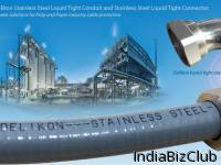 Delikon Flexible Stainless Steel Liquid Tight Conduit Stainless Steel Liquid Tight Connector Proven Solutions For Pulp And Paper Industry Cable Protection Acids Alkalies And Bleaches Are The Common Ingredients Used To Convert Wood Into Wood Pulp And
