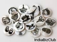 Printed Shell Buttons
